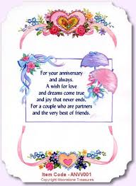 words for anniversary cards anniversary card poems