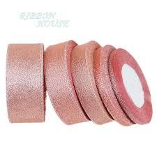 glitter ribbon wholesale 25 yards roll flesh pink metallic glitter ribbon colorful gift