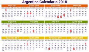 calendario escolar argentina 2017 2018 calendario 2018 para argentina con días festivos calendario 2018