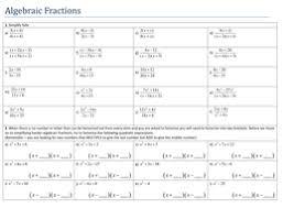 simplifying algebraic fractions by tristanjones teaching