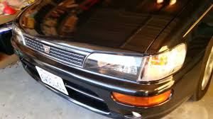 1996 toyota corolla front bumper 1996 toyota corolla ae101 bz touring corner light 7443 conversion