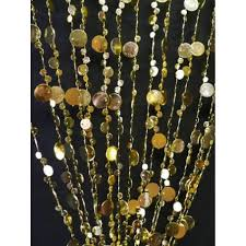 3 x 6 foot beaded curtain panels gold iridescent champagne