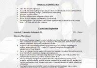 Recruiter Sample Resume 100 Resume Hr Recruiter Pay Custom Cover Letter Curriculum