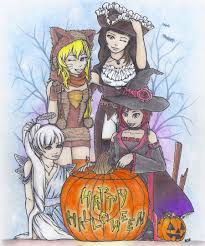 happy halloween artwork happy halloween u0027 u0027 from team rwby by caelumpicta on deviantart