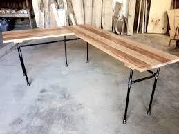Metal L Shaped Desk The Elle Desk Reclaimed Wood L Shaped Desk Wood Office Desk