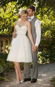 Marriage Dress For Bride Knee Length Tulle Wedding Gown I Essense Of Australia