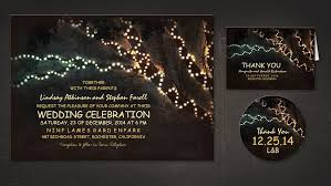 Backyard Wedding Invitations Read More U2013 Twinkle Lights Tree Wedding Invitations Wedding