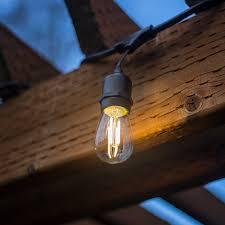 48 ft led outdoor string lights ul listed 15 hanging sockets