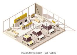 Auto Dealer Floor Plan Vector Cars Icon Set Above View Stock Vector 121323412 Shutterstock