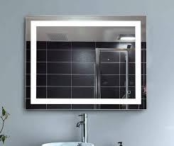 hans u0026alice 36 u201d x 28 u201d led lighted vanity bathroom mirror with touch