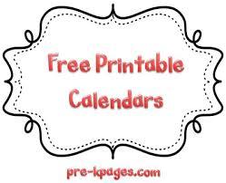 9 best images of pre k calendar free printables free printable