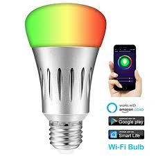 alexa controlled light bulbs esolom smart wifi led bulb work with alexa and google assistant