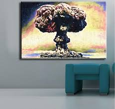 Canvas Painting For Home Decoration by Nuclear Bomb Joker Wall Painting Print On Canvas For Home