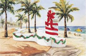 florida prints florida tropical christmas cards