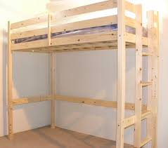 Bunk Beds Pine 4ft Small Heavy Duty Solid Pine High Sleeper Bunk
