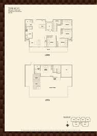 blk 87 parc rosewood parc rosewood block 87 5 bedroom penthouse type 87 f1 floor plans