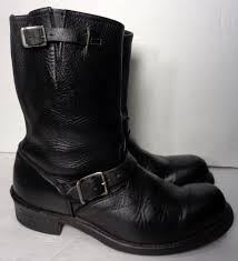 black motorcycle shoes frye 87800 engineer black leather motorcycle boots men u0027s size 10
