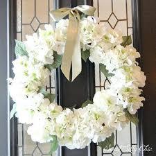 wedding wreaths wedding wreaths for front door winter white hydrangea wreath