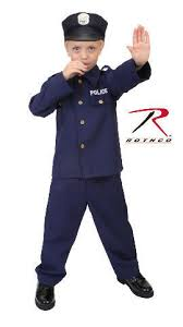 Halloween Costumes Kids Childrens Boys Navy Blue Police Policeman Officer