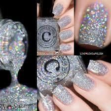 holographic silver glitter nail polish livelovepolish com nail