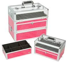 professional nail artist cosmetic case pink gator plus free
