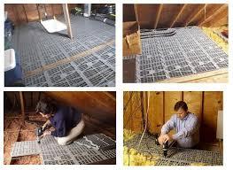 attic dek flooring panels creates a attic storage solution