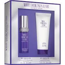 halloween perfume gift set elizabeth taylor white diamonds lustre fragrance gift set 2 pc