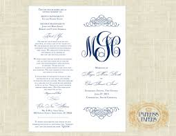 cheap ceremony programs wedding ceremony programs choose your color navy diy