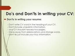write a resume your way toward professional resume ppt