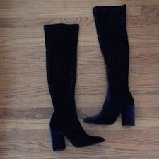 zara womens boots sale s zara blue velvet boots on poshmark