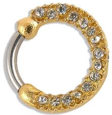 nose rings gold images Yellow gold nose rings body piercing septum clicker angelodemon se png