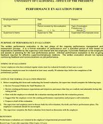 employee performance review template word at document templates