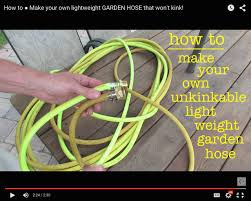 how to make your own un kinkable lightweight garden hose youtube