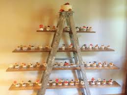cupcake displays causal summer cupcakes displayed on a ladder masterpieces cake