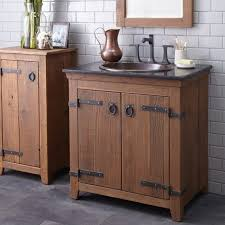 Bathroom Vanities With Sitting Area by Industrial Bathroom Vanity Brown Varnished Wooden Vanity Drawer