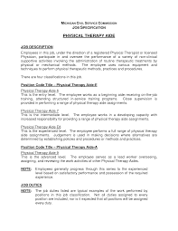 Pta Resume Sample by Physical Therapy Aide Resume Sample Resume For Your Job Application