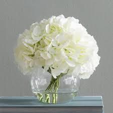 white hydrangea beachcrest home white hydrangea floral arrangements reviews