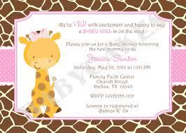 baby shower invitations latest giraffe baby shower invitations