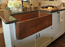interior design wood countertop with apron sink and graff faucets