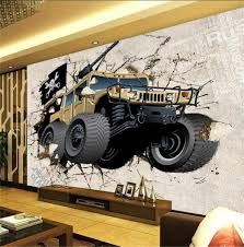custom 3d photo wallpaper kids room 3d mural military vehicles to