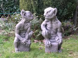 pair gargoyles goblins berkshire stonewareberkshire stoneware