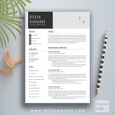 1 page resume format creative resume template cover letter word modern simple creative resume template
