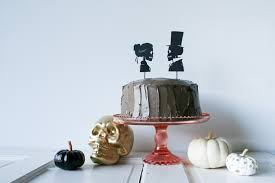 Halloween Wedding Cake Toppers Diy Skeleton Silhouette Cake Toppers Salty Canary