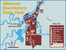 Missouri State Map by Missouri Headwaters State Park Maplets