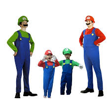 halloween costumes children super mario luigi brothers