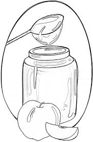 honey and apples coloring page free printable coloring pages
