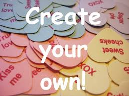 valentines heart candy sayings create your own conversation heart confetti customize your sayings