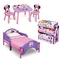 Minnie Mouse Canopy Toddler Bed Delta Children Minnie Mouse Deluxe 3 Piece Toddler Bedroom Set