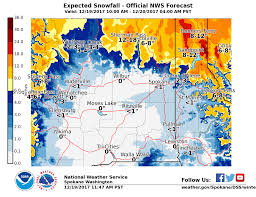 Map Of Spokane Thursday Morning Update Expect Snow On Christmas Eve Spokane