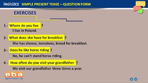 1 ingilizce simple present tense u2013 question form ppt download